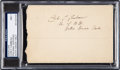 Football Collectibles:Others, 1918 Curly Lambeau Signed Envelope, PSA/DNA NM 7 - From His Only Season at Notre Dame! ...