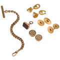 Estate Jewelry:Lots, Gentlemen's, Multi-Stone, Gold Jewelry . ... (Total: 5 Items)