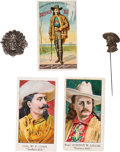 """Advertising:Paper Items, William F. """"Buffalo Bill"""" Cody: Eclectic Group of Five Items. ..."""
