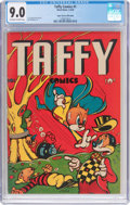 Golden Age (1938-1955):Funny Animal, Taffy Comics #1 Mile High Pedigree (Rural Home, 1945) CGC VF/NM 9.0Off-white to white pages....