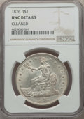 Trade Dollars, 1876 T$1 -- Cleaned -- Details NGC. UNC. NGC Census: (9/327). PCGS Population: (7/387). CDN: $850 Whsle. Bid for problem-fr...
