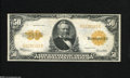 Large Size:Gold Certificates, Fr. 1200 $50 1922 Gold Certificate Very Fine. Here is a lovely highdenomination $50 Gold that exhibits decent surfaces with...
