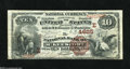 National Bank Notes:Pennsylvania, McKeesport, PA - $10 1882 Brown Back Fr. 485 The NB Ch. # (E)4625 There is only one Brown Back in the census of 21 Larg...