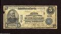 National Bank Notes:Virginia, Richmond, VA - $5 1902 Plain Back Fr. 598 The First NB Ch. #(S)1111 This piece exhibits strong stamped signatures , b...