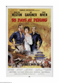 "Movie Posters:Adventure, 55 Days at Peking (Allied Artists, 1963). One Sheet (27"" X 41"").Offered here is a vintage, theater-used poster for this his..."