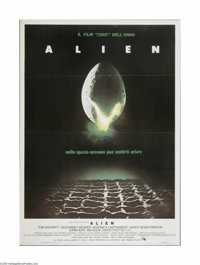 "Alien (20th Century Fox, 1979). Italian Poster (39"" X 55""). Offered here is a vintage, theater-used poster for..."