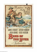 """Movie Posters:Western, Bend Of The River (Universal, 1952). One Sheet (27"""" X 41""""). Offeredhere is a folded, vintage, theater-used poster for this ..."""