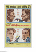"""Movie Posters:Western, The Big Country (United Artists, 1958). One Sheet (27"""" X 41""""). Offered here is a vintage, theater-used poster for this Weste..."""