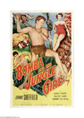 "Movie Posters:Adventure, Bomba and the Jungle Girl (Monogram, 1952). One Sheet (27"" X 41"").Offered here is a folded, vintage, theater-used poster fo..."