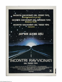 """Close Encounters of the Third Kind (Columbia, 1977). Italian Poster (39"""" X 55""""). Offered here is a vintage, th..."""