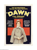 "Movie Posters:War, Dawn (British & Dominions Film Corporation, 1928). One Sheet(27"" X 41""). Offered here is a folded, vintage, theater-used po..."