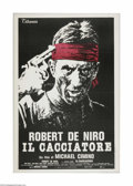 "Movie Posters:War, The Deer Hunter (Universal, 1978). Italian Poster (39"" X 55"").Offered is a vintage, theater-used poster for this war drama ..."