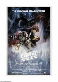 "The Empire Strikes Back (20th Century Fox, 1980). Poster (40"" X 60""). Offered here is a vintage, theater-used..."