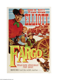 """Fargo (Monogram, 1952). One Sheet (27"""" X 41""""). Offered here is a vintage, theater-used poster for this Western..."""