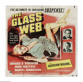 "Movie Posters:Crime, The Glass Web (MCA/Universal, 1953). Six Sheet (81"" X 81""). Offeredhere is a folded, vintage, theater-used poster for this ..."