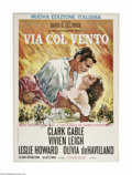 "Movie Posters:Academy Award Winner, Gone With the Wind (MGM, R-1968). Italian Poster (39"" X 55"").Offered here is a vintage, theater-used poster for this Civil ..."