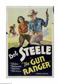 """Movie Posters:Western, The Gun Ranger (Republic, 1937). One Sheet (27"""" X 41""""). Offered here is a folded, vintage, theater-used poster for this West..."""