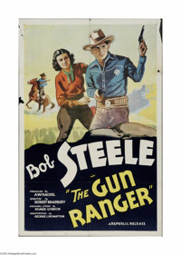 """The Gun Ranger (Republic, 1937). One Sheet (27"""" X 41""""). Offered here is a folded, vintage, theater-used poster..."""