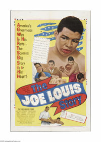 """The Joe Louis Story (United Artists, 1953). One Sheet (27"""" X 41""""). Offered here is a folded, vintage, theater-..."""