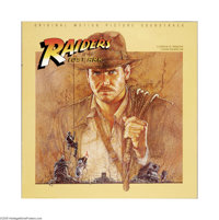 "Raiders of the Lost Ark (Paramount, 1981). Soundtrack Poster (35.5"" X 35.5""). Offered here is a vintage, theat..."