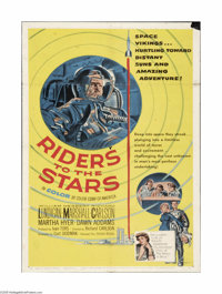 "Riders to the Stars (United Artists, 1954). One Sheet (27"" X 41""). Offered here is a folded, vintage, theater-..."