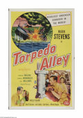 "Movie Posters:War, Torpedo Alley (Allied Artists, 1953). One Sheet (27"" X 41"").Offered here is a folded, vintage, theater-used poster for this..."