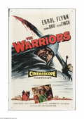 "Movie Posters:Adventure, The Warriors (Allied Artists, 1955). One Sheet (27"" X 41""). Offeredhere is a vintage, theater-used poster for this last Err..."