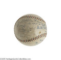 Autographs:Baseballs, 1925 Ty Cobb Single Signed Baseball. While single signed Cobb ballsare scarce enough, we increase the rarity and desirabil...