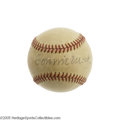 Autographs:Baseballs, 1940's Connie Mack & Honus Wagner Signed Baseball. Lost tohistory is the occasion that brought these two early legends of ...