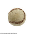 Autographs:Baseballs, 1940's Tris Speaker Signed Baseball. With high-end Speaker singlescommanding five-figure prices, we're pleased to offer th...