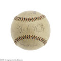 Autographs:Baseballs, Ruth, Gehrig, Mantle, Maris & Ted Williams Signed Baseball. Thecollecting equivalent of the Playboy Mansion, offering the ...