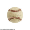 Autographs:Baseballs, 1940's Walter Johnson Single Signed Baseball. The Big Train posted over four hundred wins during his twenty-one seasons of ...