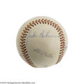 Autographs:Baseballs, 1940's Negro League Baseball Signed by Robinson & Campanella.One of the finest and most remarkably improbable artifacts to...