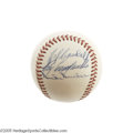 Autographs:Baseballs, Mid-1950's Roy Campanella Signed Baseball. Here's your chance toget a stellar pre-accident Campy autograph on a baseball a...