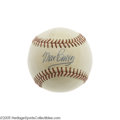 "Autographs:Baseballs, 1960's Max Carey Single Signed Baseball. The finest defensive center fielder in the National League during his prime, ""Scoo..."