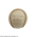 Autographs:Baseballs, 1960's Gil Hodges Single Signed Baseball. A true blue Dodger,Hodges spent close to two decades of his life in service of t...