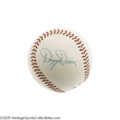 "Autographs:Baseballs, 1960's Dizzy Dean Single Signed Baseball, PSA NM-MT+ 8.5. ""When ole Diz was out there pitching it was more than just anothe..."