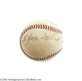Autographs:Baseballs, Brooklyn Dodgers Greats Vintage Signed Baseball with Wheat &Vance. Just four signatures on this ONL (Giles) ball, but you ...