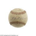 Autographs:Baseballs, 1960's Roberto Clemente Signed Baseball. The blue ink sweet spotsignature from the Pittsburgh Pirates Hall of Famer would ...
