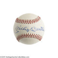 Autographs:Baseballs, 1960's Mickey Mantle Single Signed Baseball. No, the catalog imageis not the result of photo-editing software trickery. T...