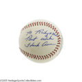 "Autographs:Baseballs, 1960's Hank Aaron Single Signed Baseball, PSA Mint+ 9.5. What morereally needs to be said about a ball ""slabbed"" in a PSA ..."