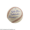 Autographs:Baseballs, 1960's Joe DiMaggio Single Signed Baseball. Long before Joltin' Joehit the autograph circuit, he signed this OAL (Cronin) ...