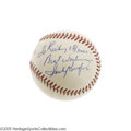 Autographs:Baseballs, 1960's Sandy Koufax Single Signed Baseball. Koufax is one of thetougher signatures from living Hall of Famers, and while h...