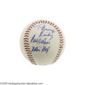 Autographs:Baseballs, 1960's Willie Mays Single Signed Baseball, PSA NM-MT+ 8.5. Exceptional playing-days inscription utilizes Say Hey's early si...