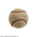 Autographs:Baseballs, Early 1970's Casey Stengel Single Signed Baseball. Very shortlybefore his death, the seven-time World Championship skipper...