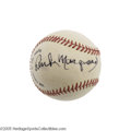 Autographs:Baseballs, Circa 1970's Rube Marquard Single Signed Baseball. The Hall of Fame pitcher led the Giants and Dodgers to five National Lea...