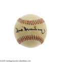 Autographs:Baseballs, 1980's Hank Greenberg Single Signed Baseball. Before there wasJackie Robinson, it was Greenberg who endured the threats an...