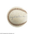 Autographs:Baseballs, 1963 President Dwight D. Eisenhower Single Signed Baseball. He wasone of the most influential figures in twentieth century...