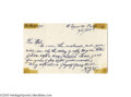 "Autographs:Letters, 1958 Rhoderick ""Bobby"" Wallace Handwritten Letter. His career inbaseball spanned sixty seasons, beginning as a pitcher for... (2Items)"