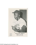 Autographs:Photos, 1960's Jackie Robinson Signed Hall of Fame Premium. Finephotographic image of this most important of baseball superstarsi...